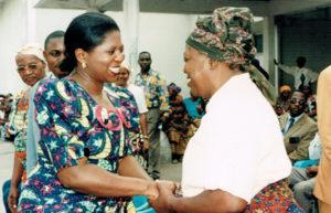 1997: Au centre d'accueil chez les femmes Kimbanguistes, Kinshasa