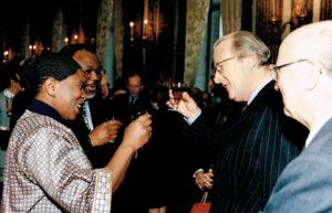 Janvier 1998: Réception du nouvel an au Palais Royal de Bruxelles avec le roi Albert II