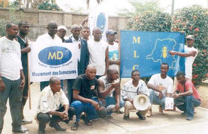 2006: Militants du Mouvement des Démocrates à Boma, RDC (2006)