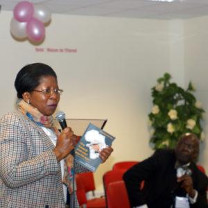 Justine M'Poyo Kasa Vubu, au congrès des Congolais de la Diaspora